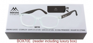 BOX70E;;Matt finishing - Flex - Aspheric Lenses - including soft pouch and luxury box<br>Flex<br>Power: +1.00, +1.50, +2.00, +2.50, +3.00, +3.50;51;18;135