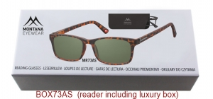 BOX73AS;;Sunreader - Matt finishing - Flex - Aspheric Lenses - Including soft pouch and luxury boxFlexPower: +1.00, +1.50, +2.00, +2.50, +3.00, +3.50;54;17;140