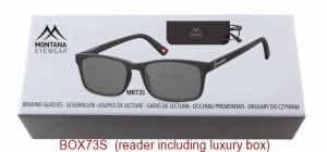 BOX73S;;Sunreader - Matt finishing - Flex - Aspheric Lenses - Including soft pouch and luxury boxFlexPower: +1.00, +1.50, +2.00, +2.50, +3.00, +3.50;54;17;140