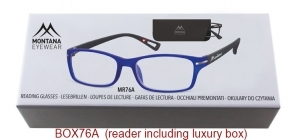 BOX76A;;Matt finishing - Aspheric Lenses - including soft pouch and luxury boxPower: +1.00, +1.50, +2.00, +2.50, +3.00, +3.50;52;19;142