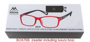 BOX76B;;Matt finishing - Aspheric Lenses - including soft pouch and luxury boxPower: +1.00, +1.50, +2.00, +2.50, +3.00, +3.50;52;19;142