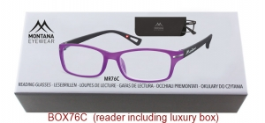 BOX76C;;<p> Matt finishing - Aspheric Lenses - including soft pouch and luxury box<br /> <br /> Power: +1.00, +1.50, +2.00, +2.50, +3.00, +3.50</p> ;52;19;142