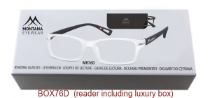 BOX76D;;Matt finishing - Aspheric Lenses - including soft pouch and luxury boxPower: +1.00, +1.50, +2.00, +2.50, +3.00, +3.50;52;19;142