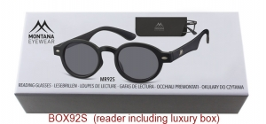 BOX92S;; Matt finishing - Aspheric Lenses - including soft pouch and luxury box  Power: +1.00, +1.50, +2.00, +2.50, +3.00, +3.50 ;44;21;150