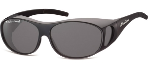 FO1E;;Shiny black + smoke lenses<br><br>Fit overs - Flex - Polarized;62;15;135