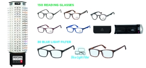 MD73READ180;; Package deal Reading glasses MD73READ180: '180 reading glasses' 150 bestsellers reading glasses + 30 bestsellers blue light filter, including display MD73  ;1000;420;420