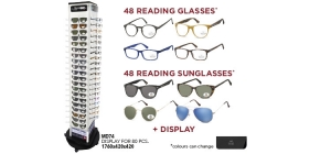 MD74MIX96;; Package deal Reading glasses and Sunglasses MD74MIX96: 96 bestsellers (48 reading glasses and 48 sunglasses) including pouch and display MD74  ;1000;420;420
