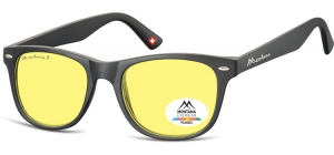 MP10Y;; Black + Yellow polarized high contrast lenses  Polarized - Cat. 1 Yellow polarized high contrast lenses - Rubbertouch - Case included ;53;19;147