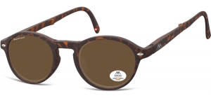MP66B ;;Turtle + brown lenses. Folding sunglasses, including soft pouch and luxury boxFlexFolding sunglasses - Polarized - Matt finishing - Soft Pouch Included;49;23;140