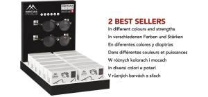 PD12BOX66;; Including 14 folding reading glasses BOX66 in luxury box in different colours and strengths. Display for free.  FULL PRICE €78,00 ($95,15 £68,65 C$120,90 zł343,20 Kč2153,00)  ;248;350;300