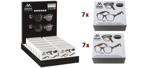 PD12MFR61;; PD12MFR61 Including 14 folding reading glasses MFR61 in luxury box, different colours and strengths. Display for free. ;248;350;300