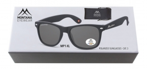 BOXMP1-XL;;Black + smoke lenses. Including soft pouch and luxury boxPolarized - Rubbertouch - Soft Pouch Included;54;19;150