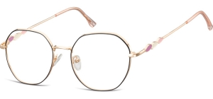 L122A;;Shiny pink gold + matt  blackLadies Metal Frame - Stainless Steel;54;18;143