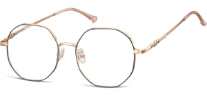L123A;;Shiny pink gold + matt  blackLadies Metal Frame - Stainless Steel;53;17;148