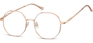 L123D;;Shiny pink gold + matt soft pinkLadies Metal Frame - Stainless Steel;53;17;148