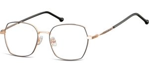 L124A;;Shiny pink gold + matt  blackLadies Metal Frame - Stainless Steel;53;17;144