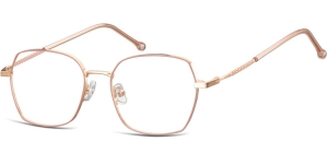 L124D;;Shiny pink gold + matt soft pinkLadies Metal Frame - Stainless Steel;53;17;144