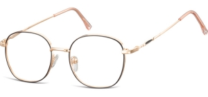 L125A;;Shiny pink gold + matt  blackLadies Metal Frame - Stainless Steel;49;17;143