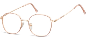 L125D;;Shiny pink gold + matt soft pinkLadies Metal Frame - Stainless Steel;49;17;143