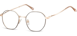 L126A;;Shiny pink gold + matt  blackLadies Metal Frame - Stainless Steel;48;18;142