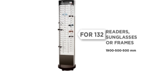 MD71;;Stand-up display including weels for 132 readers,  sunglasses or frames.  Frames are not included.;190;50;50