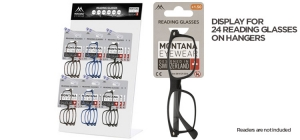 MDREAD;;Empty display for 24 Reading glasses on hangers;240;400;120