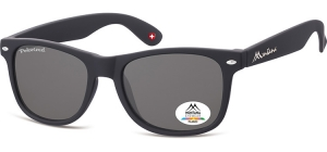 MP1-XL;; Black + smoke lenses  Polarized - Rubbertouch - Soft Pouch Included ;54;19;150