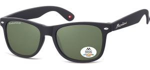 MP1A-XL;; Black + G15 lenses  Polarized - Rubbertouch - Soft Pouch Included ;54;19;150