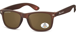 MP1E-XL;; Brown + brown lenses  Polarized - Rubbertouch - Soft Pouch Included ;54;19;150