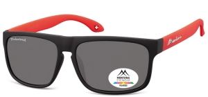 MP37B;; Black + red  Polarized - Rubbertouch - Soft Pouch Included ;58;15;140
