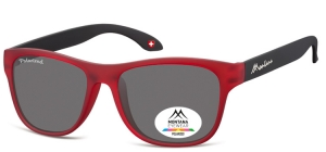 MP38B;; Red + black  Polarized - Rubbertouch - Soft Pouch Included ;54;17;140