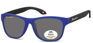 MP38D;; Blue + black  Polarized - Rubbertouch - Soft Pouch Included ;54;17;140