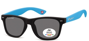 MP40D;; Black + blue  Polarized - Rubbertouch - Soft Pouch Included ;54;20;142