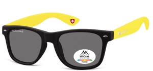 MP40F;; Black + yellow  Polarized - Rubbertouch - Soft Pouch Included ;54;20;142