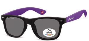 MP40H;; Black + purple  Polarized - Rubbertouch - Soft Pouch Included ;54;20;142