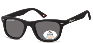 MP41;; Black  Polarized - Rubbertouch - Soft Pouch Included ;50;22;152