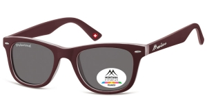 MP41E;; Burgundy  Polarized - Rubbertouch - Soft Pouch Included ;50;22;152