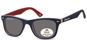 MP41J;; Blue + red  Polarized - Rubbertouch - Soft Pouch Included ;50;22;152