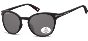 MP50;; Black + smoke lenses  Polarized - Rubbertouch - Soft Pouch Included ;50;22;140