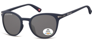 MP50G;; Blue + smoke lenses  Polarized - Rubbertouch - Soft Pouch Included ;50;22;140
