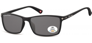 MP51;; Black + smoke lenses  Polarized - Rubbertouch - Soft Pouch Included ;57;17;140
