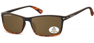 MP51B;; Black + Turtle + brown lenses  Polarized - Rubbertouch - Soft Pouch Included ;57;17;140