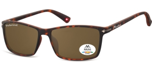 MP51D;; Turtle + brown lenses  Polarized - Rubbertouch - Soft Pouch Included ;57;17;140