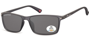 MP51F;; Dark grey + smoke lenses   Polarized - Rubbertouch - Soft Pouch Included ;57;17;140