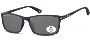 MP51G;; Blue + smoke lenses  Polarized - Rubbertouch - Soft Pouch Included ;57;17;140