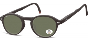 MP66A ;;Black + G15 lenses. Folding sunglasses, including soft pouch and luxury boxFlexFolding sunglasses - Polarized - Matt finishing - Soft Pouch Included;49;23;140