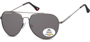 MP90;; Gunmetal + smoke lenses  Polarized - Soft Pouch Included ;57;14;140