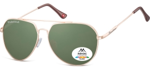 MP90E;; Gold + G15 lenses  Polarized - Soft Pouch Included ;57;14;140