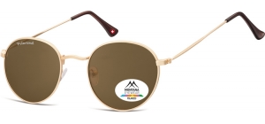 MP92D-XL;; Gold + brown lenses  Polarized - Matt finishing - Soft Pouch Included ;54;23;145