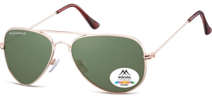 MP94E;; Gold + G15 lenses  Polarized - Soft Pouch Included ;57;17;140
